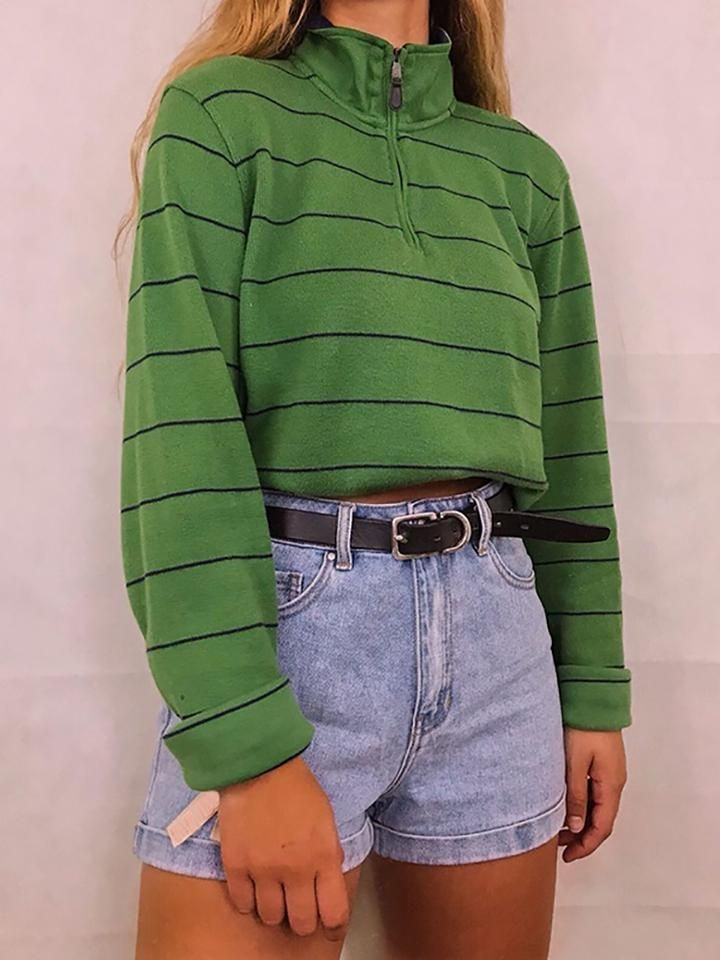 Ladies Fashion Casual Striped Sweatshirt-#Casual #fashion #ladies #striped #sweatshirt