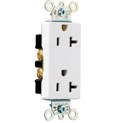 Pass & Seymour/Legrand 20-Amp Decorator Duplex Electrical Outlet ...