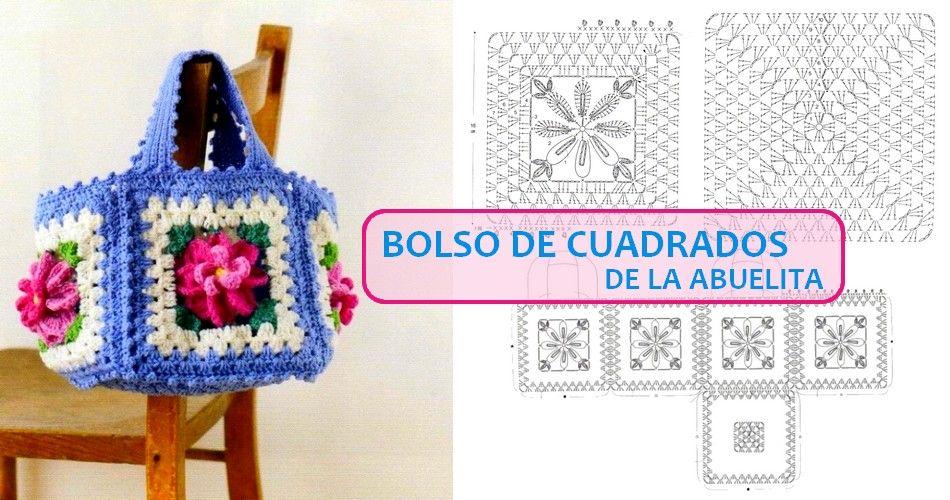 Pin de Tely Araya en Granny Square Crochet | Pinterest | Bolso de ...
