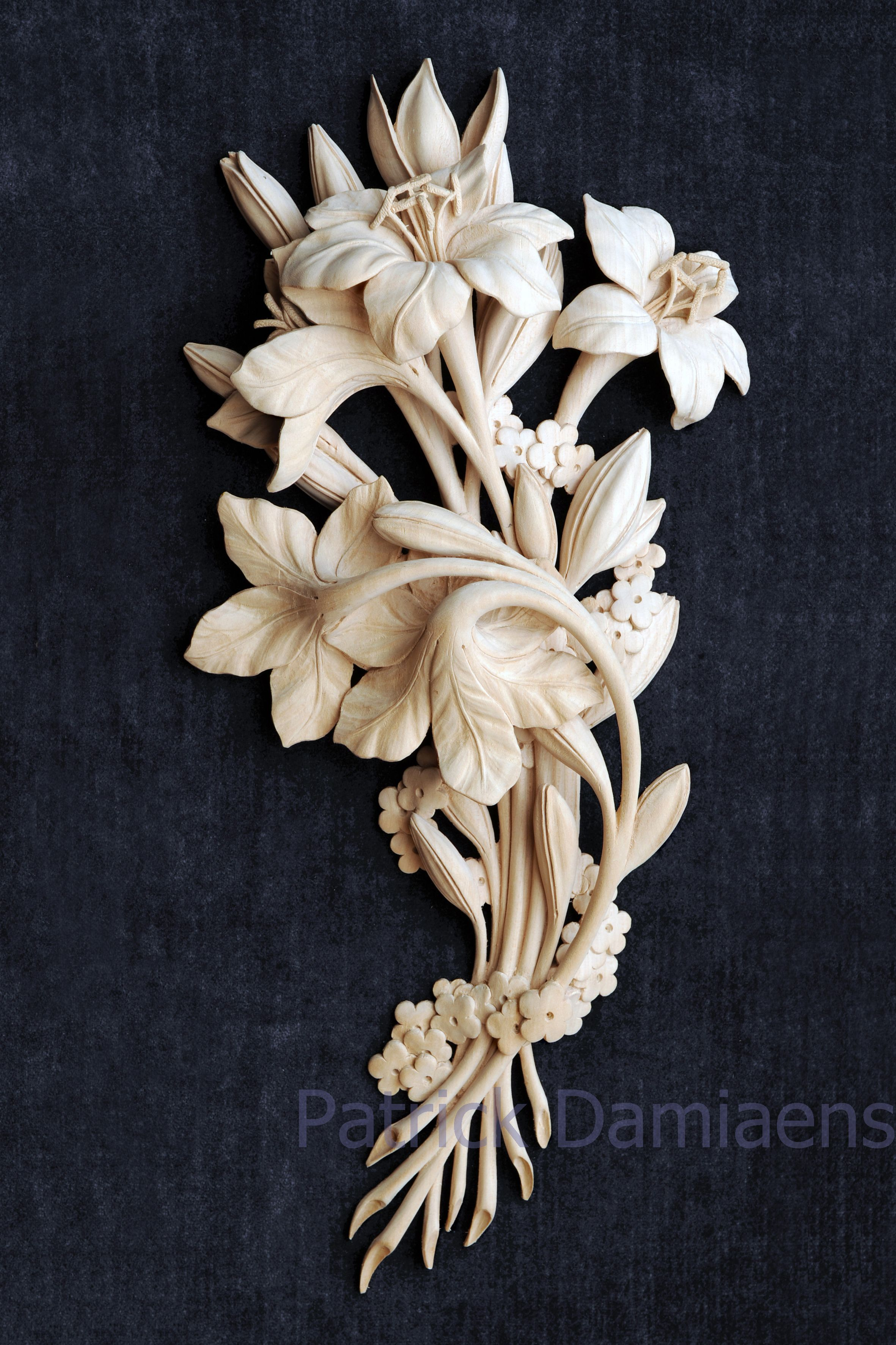 Woodcarving high relief limewood carving