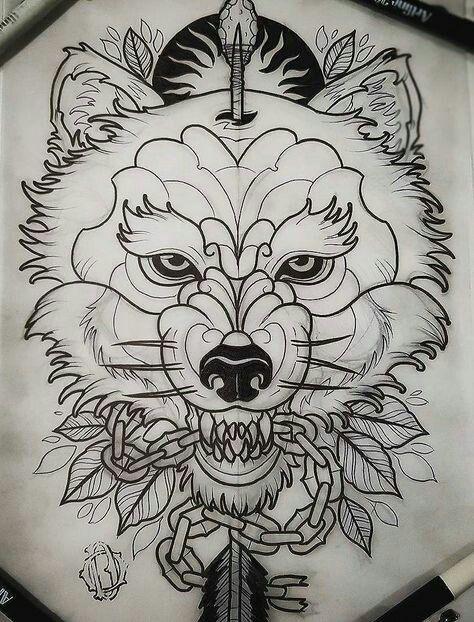 Pin De Edwar Parra En Tatuaje Neotradicional Tatuajes De Lobos
