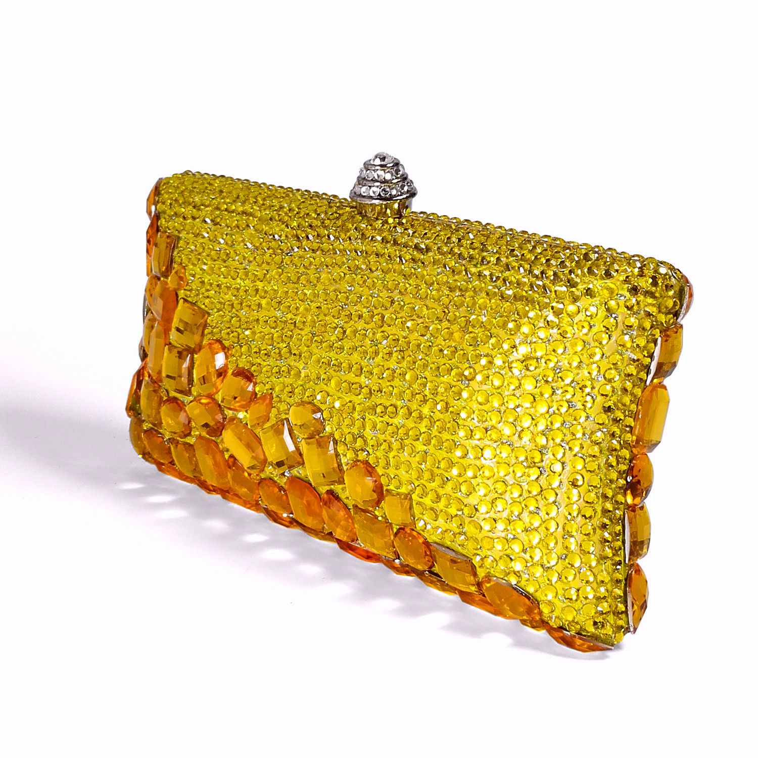 This crystal encrusted convertible clutch is simply breathtaking.Swarovski  gold Crystal handmade party evening bags. 08a16b403298