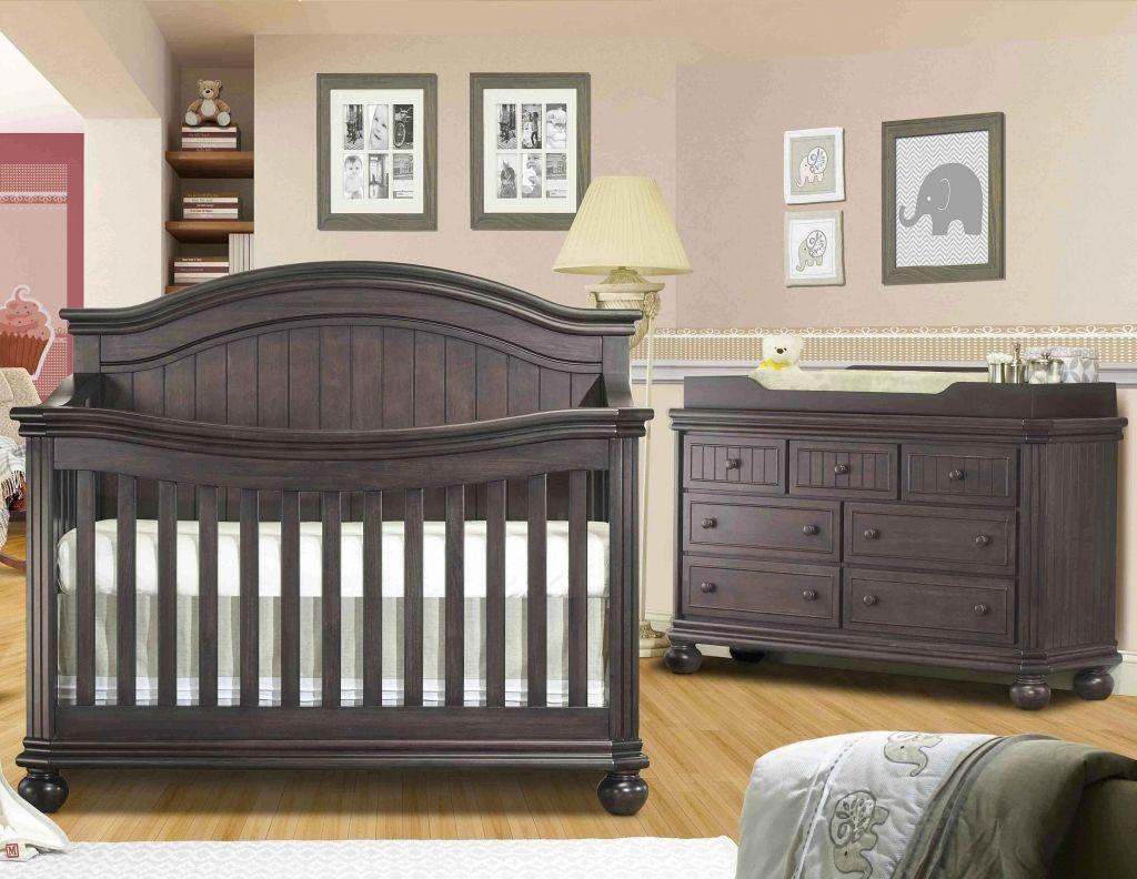 Sorelle Finley 2 Piece Nursery Set Crib And Double Dresser In Vintage Gray
