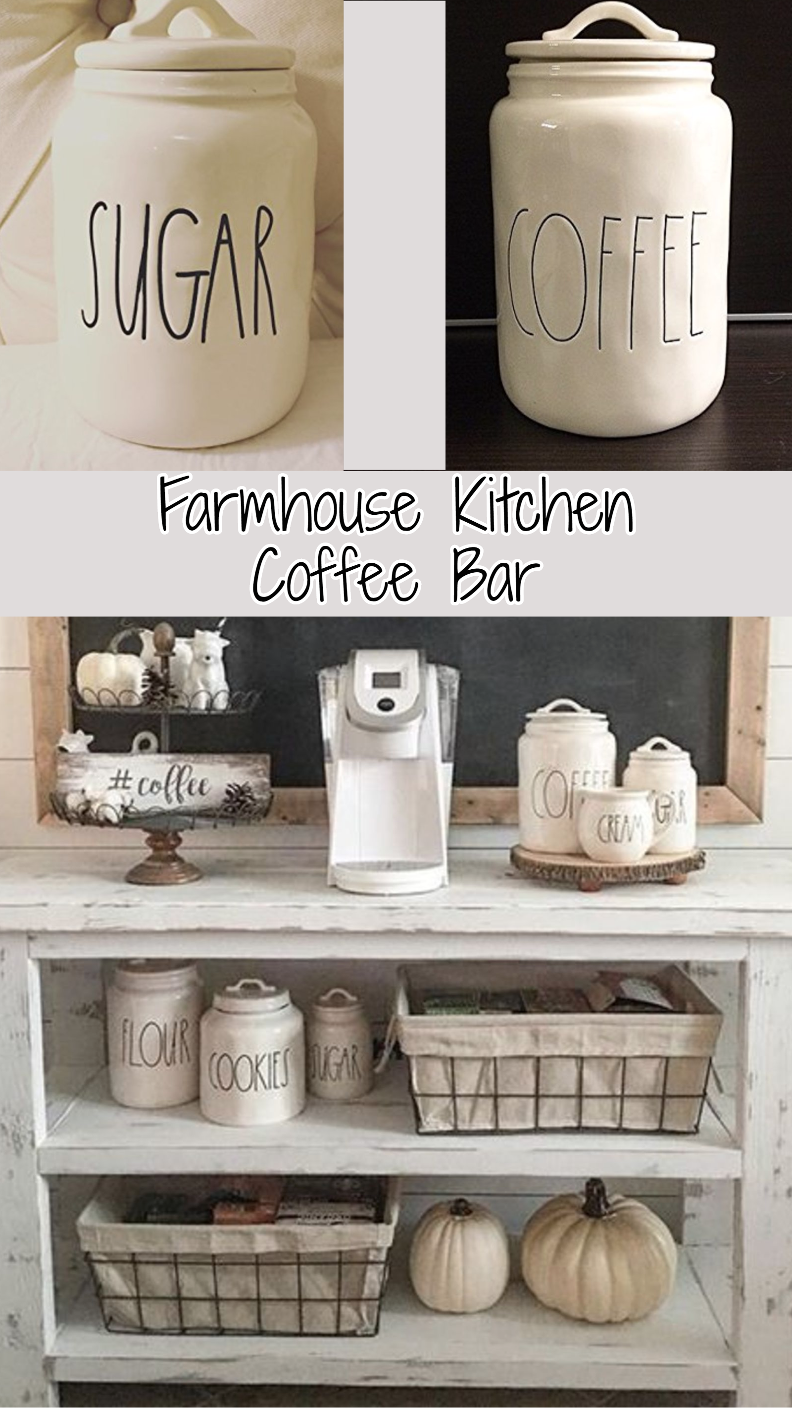 Farmhouse kitchen coffee bar i could use something similar to replace our current setup a old outdated microwave cart of course i would need it large