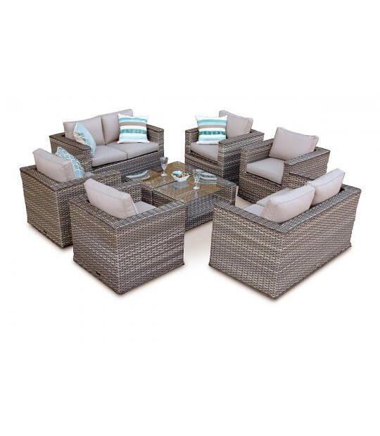 b82af9c5122b0 999 Grand Bahia 8 Seater Rattan Furniture Sofa Set - Natural ...