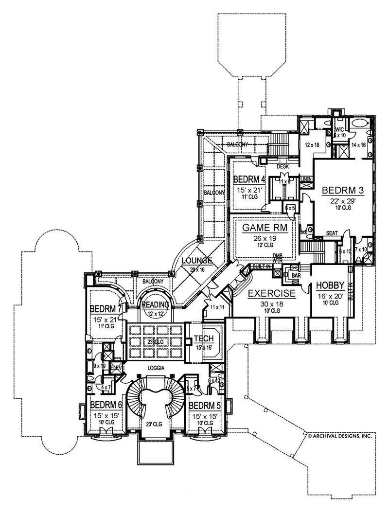 Bellerive House Plan Monster House Plans House Plans Luxury Floor Plans