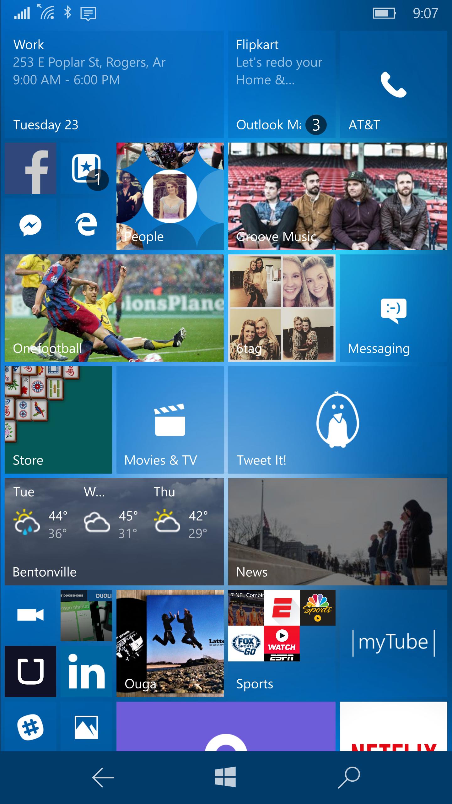 2/23/2016 Windows 10 Lumia 950 Windows phone, Start
