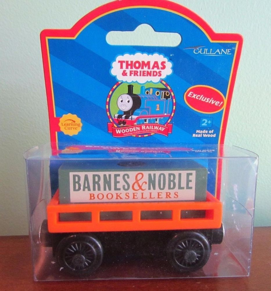 Thomas the Train Wooden Railway Barnes u0026 Noble Cargo Car - New HTF EXCLUSIVE #LearningCurve & Thomas the Train Wooden Railway Barnes u0026 Noble Cargo Car - New HTF ...