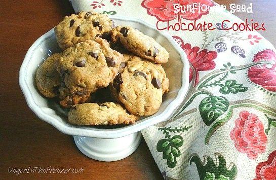 Sunflower Seed Chocolate Cookies Word | Vegan cookies ...