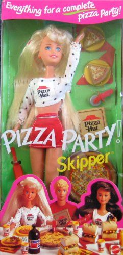 Skipper was the first one in the Barbie family to move out. She had her own job at Pizza Hut and Barbie was super jealous because she was independent and Barbie didn't have a job. I was VERY into my Barbie scenarios...