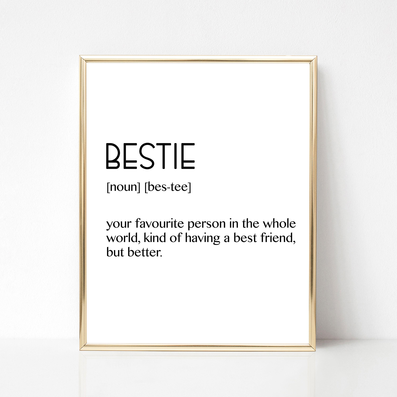 Best Fiend Gift, Bestie Definition, Bestie Gift, Bestie