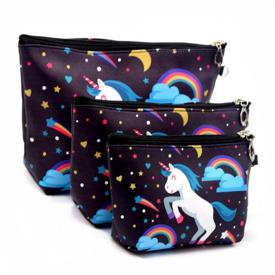 5b9d8a041a94 3 Sets Of Suits Women Unicorn Cosmetic Bag | Unicorn | Cosmetic bag ...