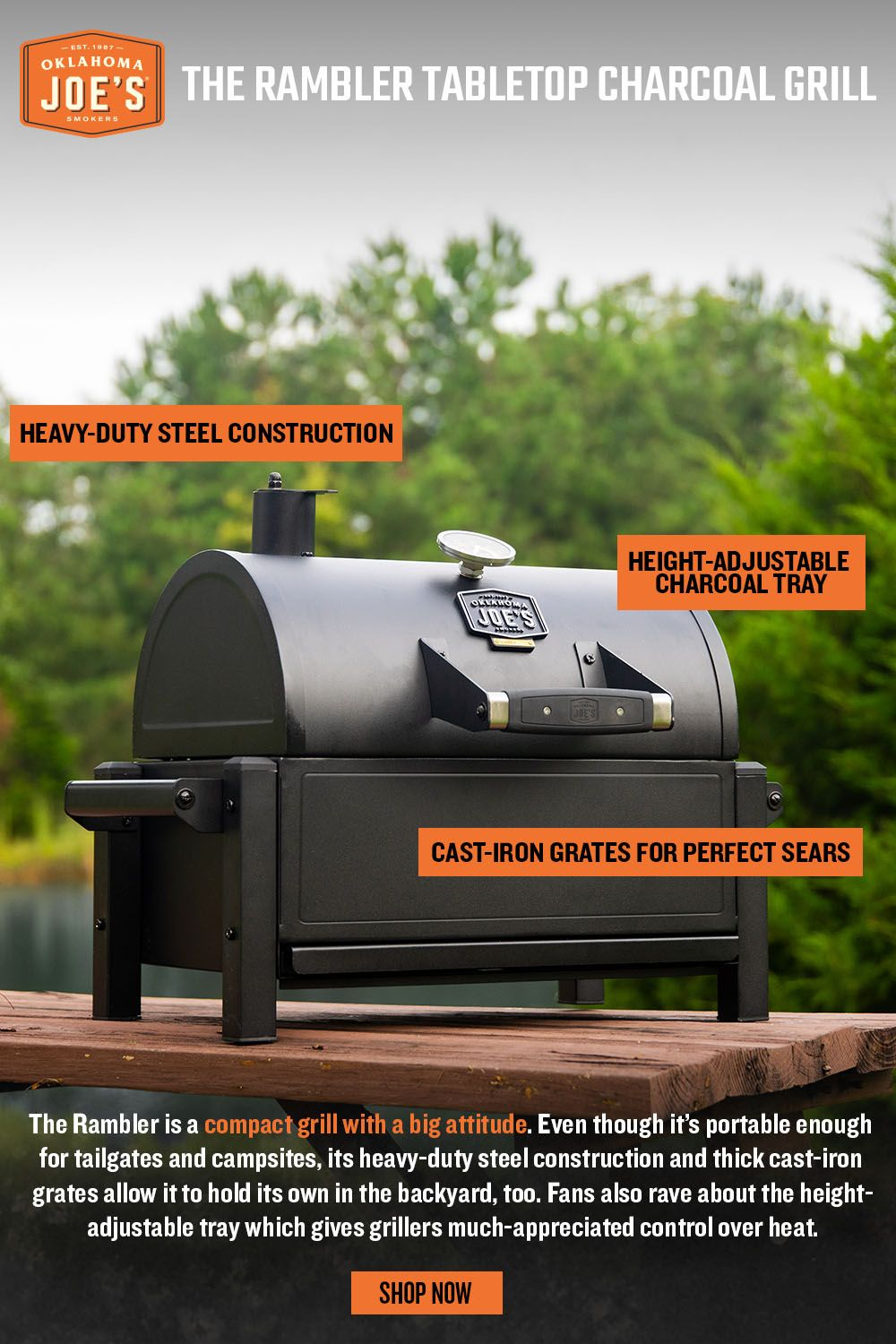 Rambler Tabletop Charcoal Grill Charcoal Grill Grilling Best