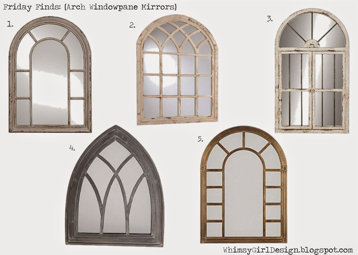Window pane mirror decor  whimsy girl design blog ten awesome mirrors with shopable links