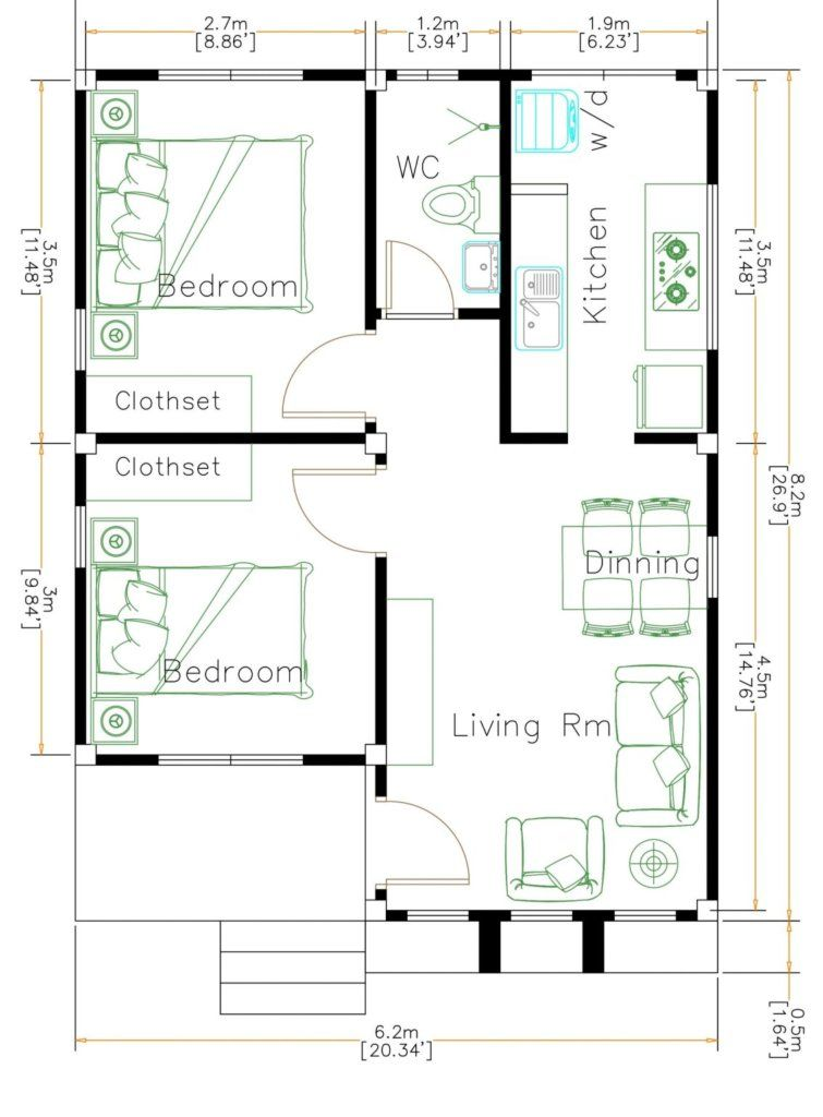 Small House Plan Ideas For Different Area Engineering Discoveries Small House Floor Plans House Plans Small House Plans