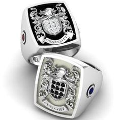 Custom Made Signet Ring Mens Ring Family Crest Ring Coat Of Arms Ring