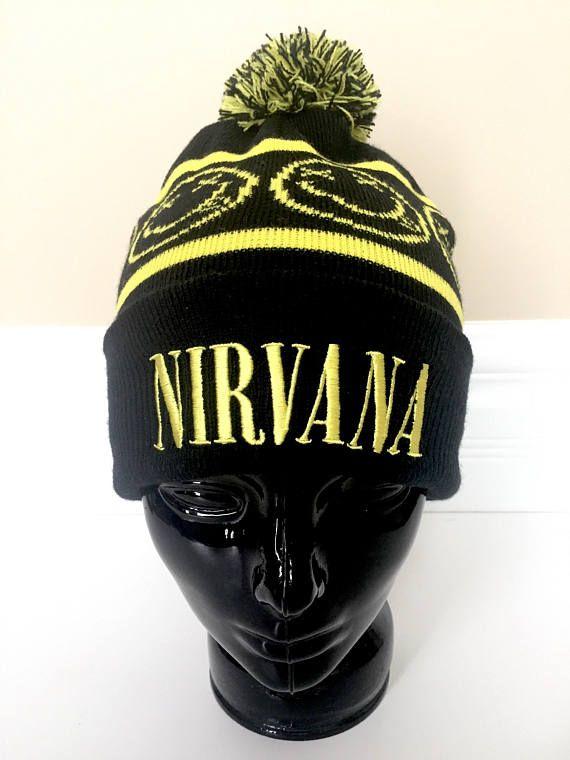 Nirvana Toque Hat - Winter Toque with Pom Pom - Mens Toque Men - Womens  Toque Women - Kurt Cobain Ni 3059889be3a