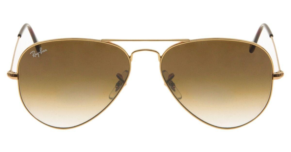 Ray-Ban Aviator RB3025 - Dourado Marrom - 001-51 58   Querido Look ... 413109520b