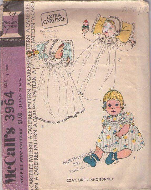MOMSPatterns Vintage Sewing Patterns - | Heirloom/Baby Sewing