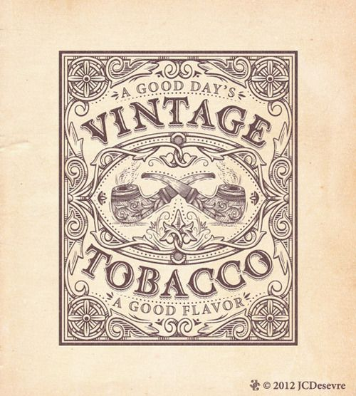 """Typeverything.com  """"Vintage Tobacco"""" type by Charles Desevre.  (via @RobClarkeType)"""