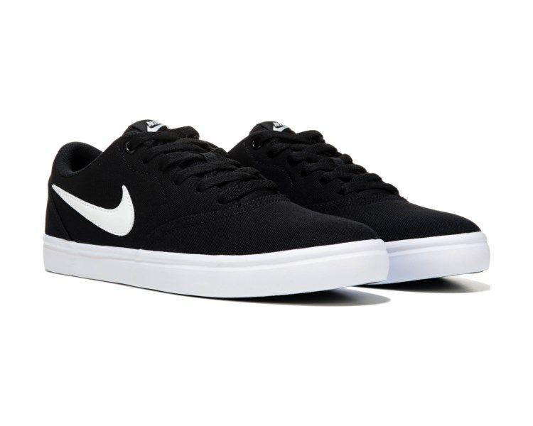 Nike Nike Sb Check Solar Canvas Skate Shoe Grey White Nike Nike Sb Skate Shoes