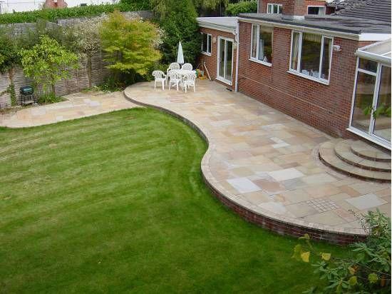Curves Raised Patio Patio Garden Design Patio Garden 400 x 300