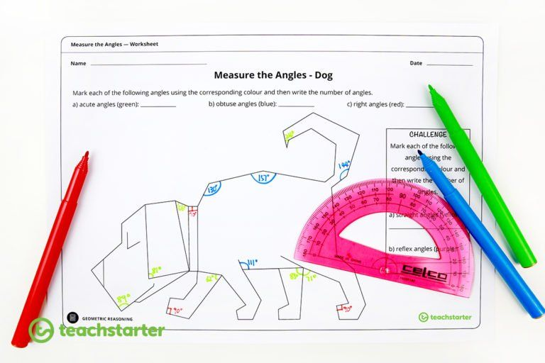 Measure Angles With A Protractor Worksheets Math Worksheets 1st Grade Math Worksheets 1st Grade Math