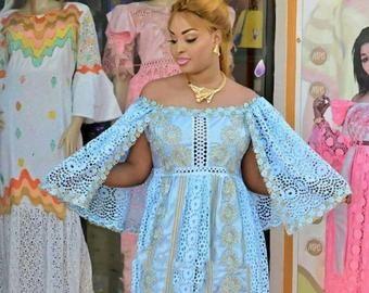 Mode africaine vêtements haut de gamme Getzner magnum or africaine robe africaine africaine robe/Bazin boubou, grande taille robe/Plus size clothing #afrikanischeskleid