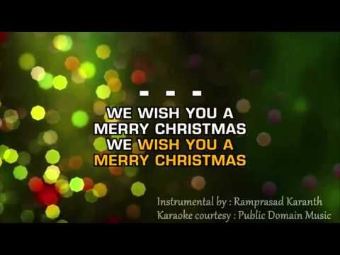 We Wish You A Merry Christmas Instrumental With Lyrics Christmas Concert Karaoke Songs Merry Christmas