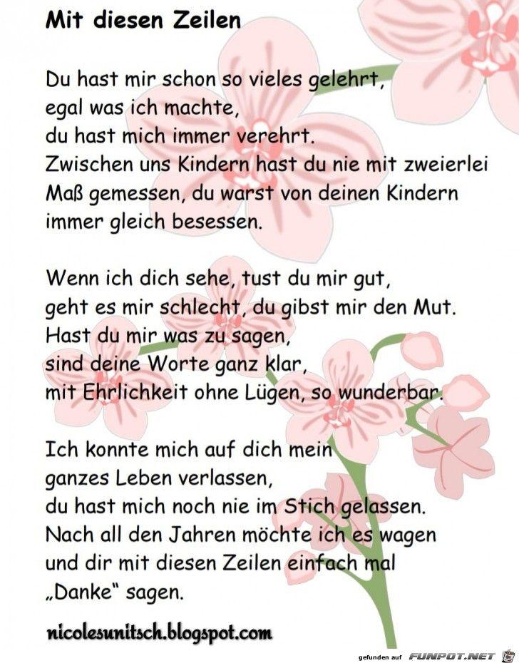Danke Mama Gedicht Von Nicole Sunitsch Mama Gedicht
