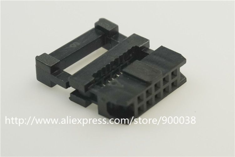 1 Piece 0 079 10 Pin Idc Socket Flat Cable Connector 2 0 Mm Pitch 10 Position Rectangular Female Socket Receptacle Electrical Equipment