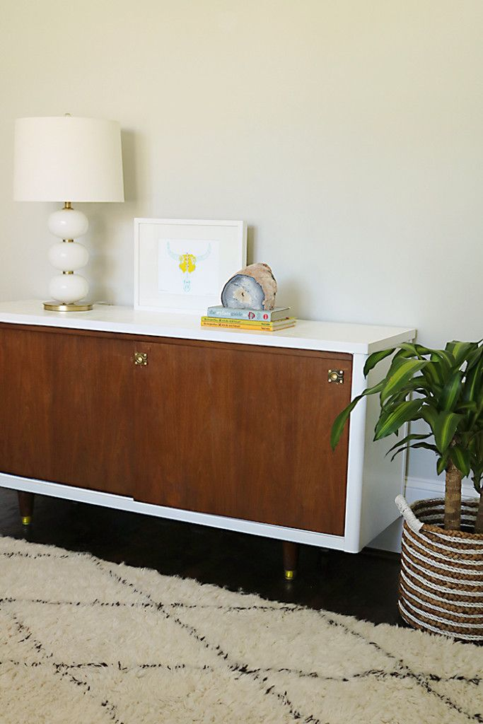 Before + After: Lacquer Mid-Century Modern Credenza Makeover | DIY on diy mid century desk, diy mid century sofa, diy mid century couch, diy mid century kitchen, diy mid century end table, diy mid century headboard,