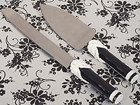 The Black And White Collection Wedding Cake And Knife Set