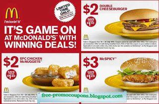 Free Printable Mcdonalds Coupons Food Mcdonalds Coupons Coupons