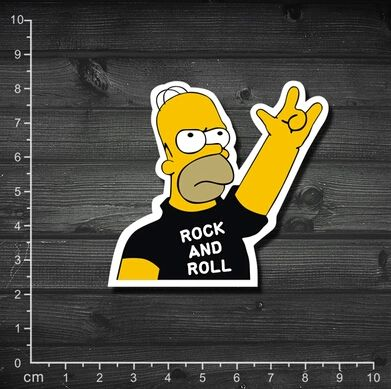 Single spoof rock simpson rock and roll box stickers laptop stickers rock 1 169♢