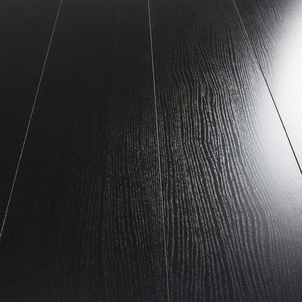 Black laminate flooring is very popular. Just think of the