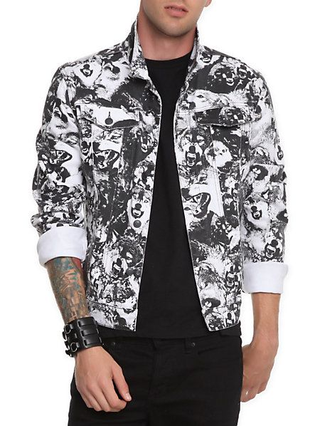 Lip Service Wolf Jacket Hot Topic Most Wanted Mens Jackets