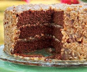 Recipes for german chocolate cake with coconut frosting