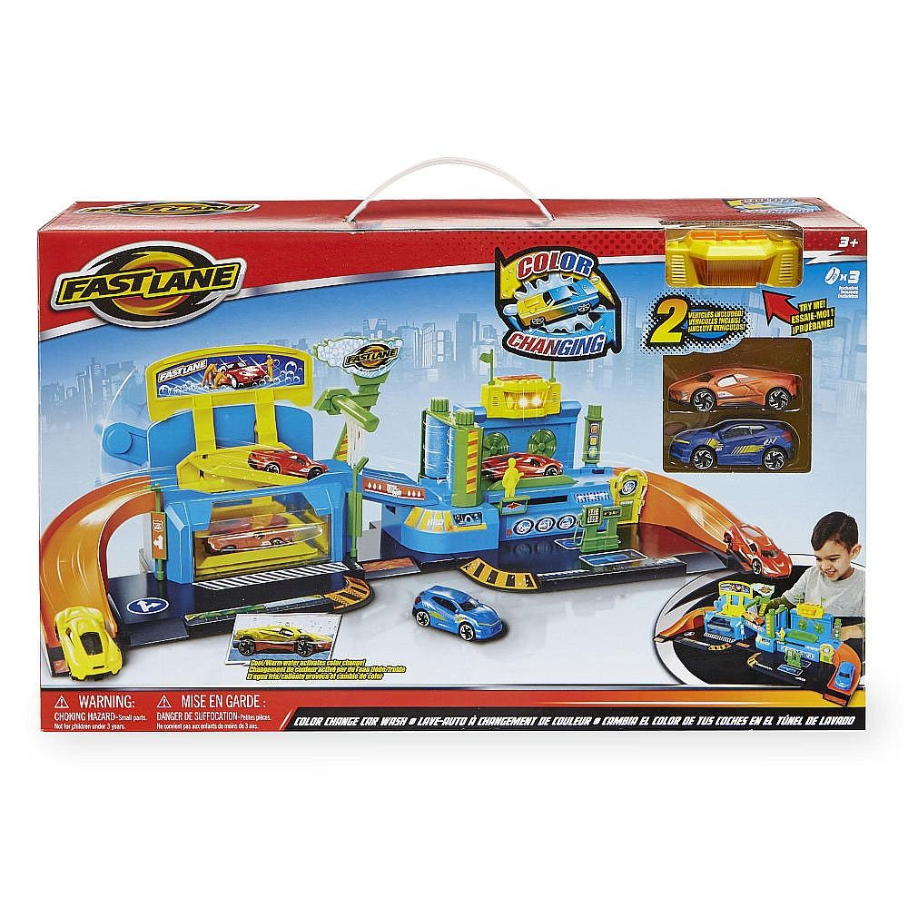 Get To Work With The Fast Lane Color Changing Car Wash Playset Only