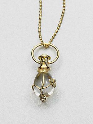 Temple St  Clair 18K Gold & Rock Crystal Amulet Pendant