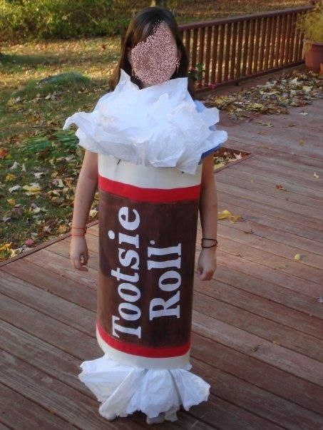 Tootsie Roll Made From Poster Board Paint And Tissue Hard To Walk