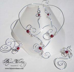 Boucles d/'Oreilles rouge//ivoire p robe Mariage//Mariée//Soirée perles pas cher
