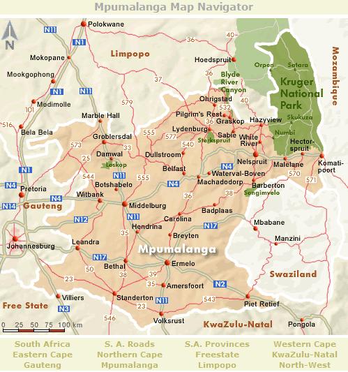 Mpumalanga Map Navigator South Africa 1 Pinterest South