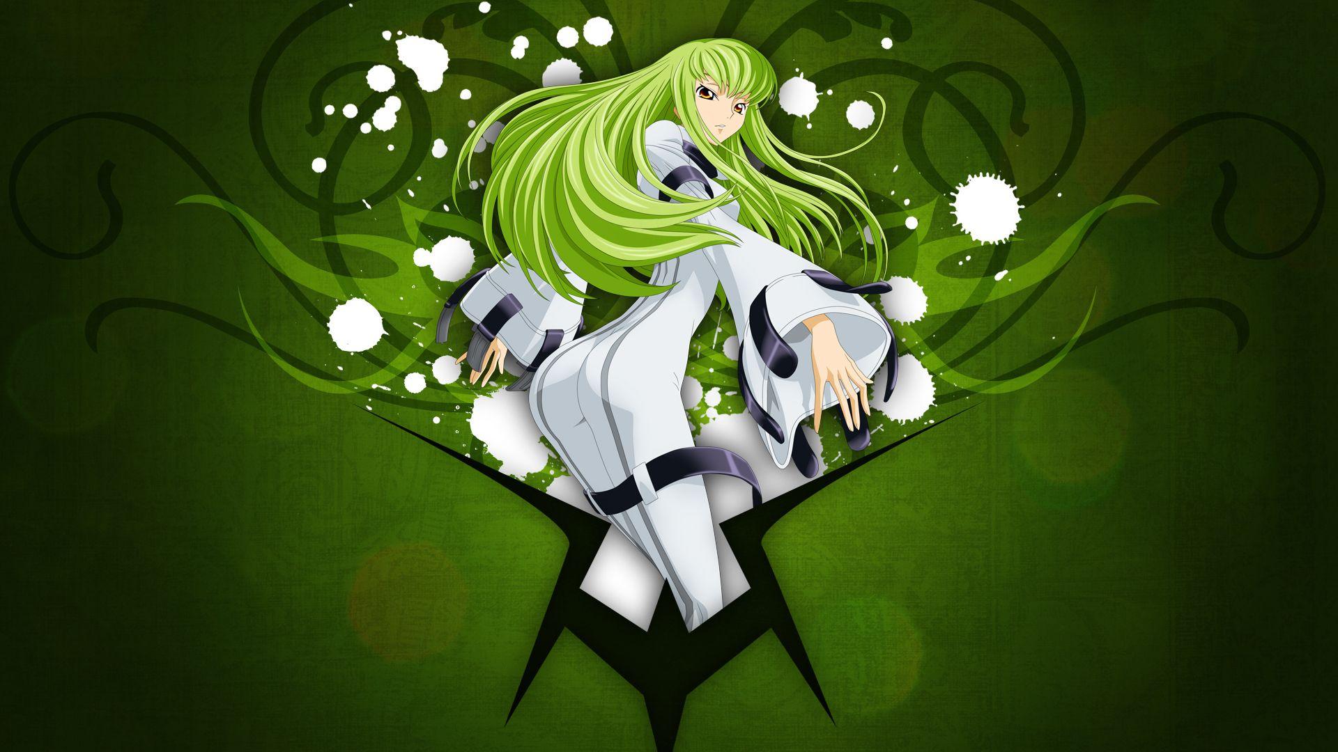 Green Code Geass Green Hair C C Anime Hd Wallpapers