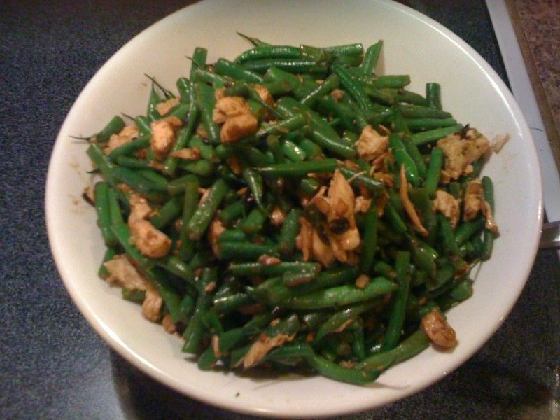 Chinese chicken and green beans in black bean sauce chinese food chinese chicken and green beans forumfinder Image collections