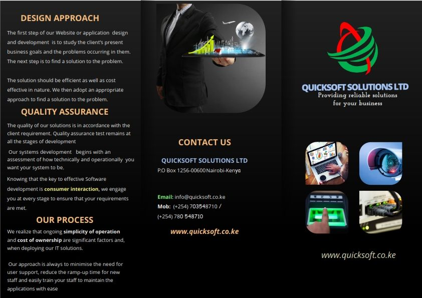 Quicksoft Solutions Ltd Technology Solutions Development Professional Web Design