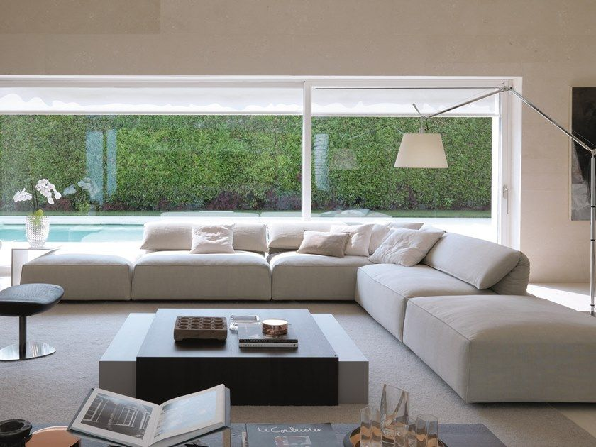 Fabric Sofa With Removable Cover Freemood Sofa By Desiree Divani