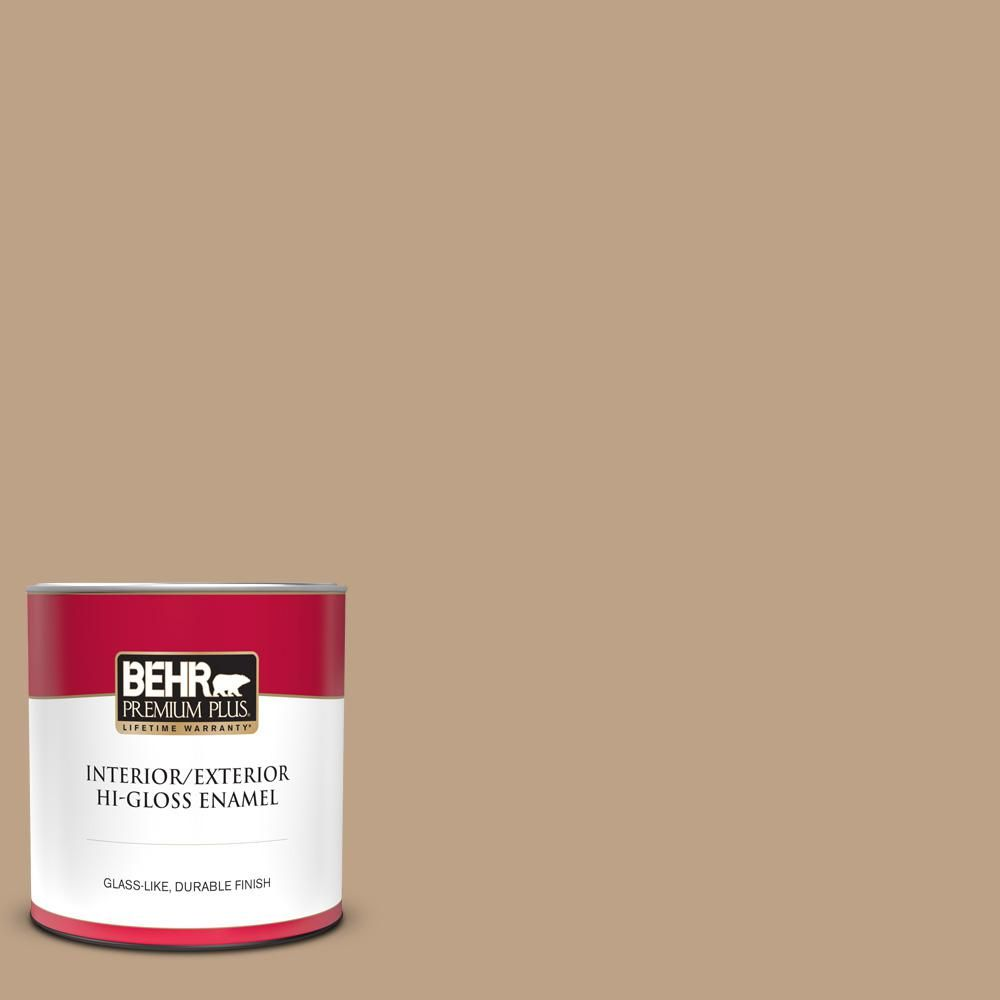 1 Qt Ppu4 05 Basketry Hi Gloss Enamel Interior Exterior Paint 840004 The Home Depot In 2020 Interior Paint Behr Premium Plus Cover Stains