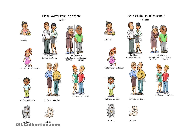 Die Familienmitglieder | Sprachförderung | Pinterest | German ...
