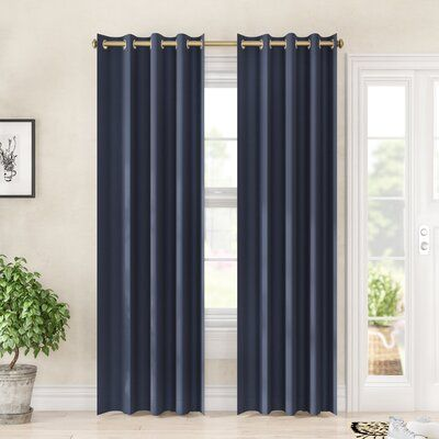 Darby Home Co Sallie Solid Color Blackout Grommet Single Curtain